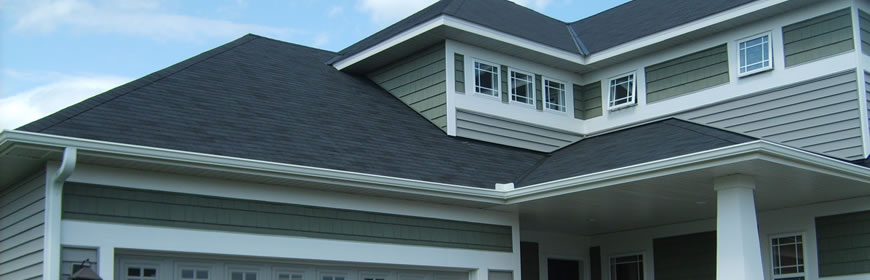 Seamless Gutters Elegant Home Exterior